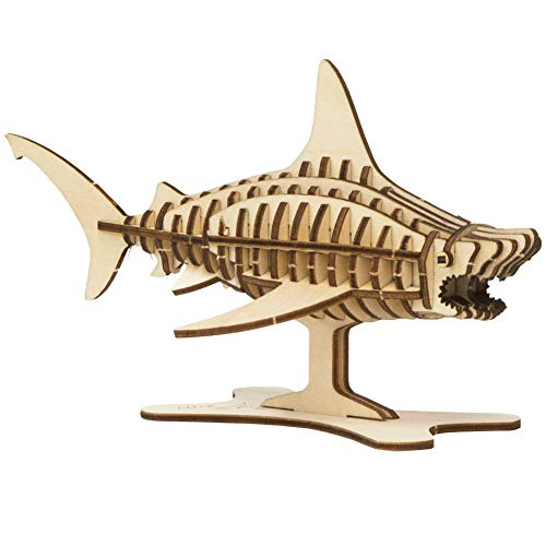 Insight Editions Incredibuilds Build Your Own 3D Great White Shark - 46 Pieces No Glue Needed