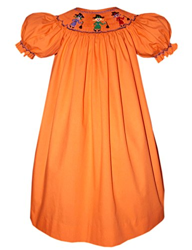 Carouselwear Which Witch Baby Girls Halloween Smocked Bishop