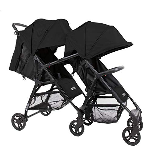 The Tandem+ (ZOE XL1) - Best Lightweight Travel and Everyday Tandem Stroller System with Umbrella