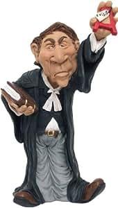Figura abogado, resina, 18cm