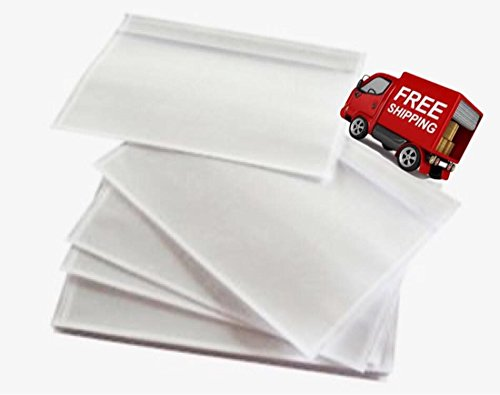 "100 - 7"" x 10"" Clear Packing List Enclosed Envelopes Plain Face Back load / Shipping Label Envelopes / Label Envelopes Pouches / CLEAR FACE – NON-PRINTED"