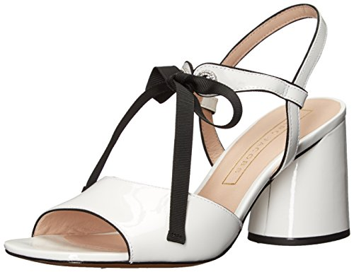 Marc Jacobs Women's Wilde Mary Jane Sandal Heeled, White, 38.5 M EU (8.5 US)