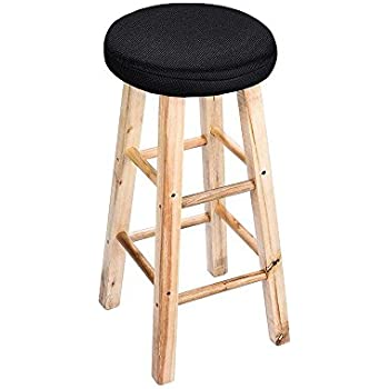 Amazon Com Jisen Breathable Linen Round Bar Stool Cover