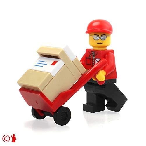 레고 시티 미니피겨:우체국 우편 배달 맨(핸드트럭 및 패키지 포함)7732