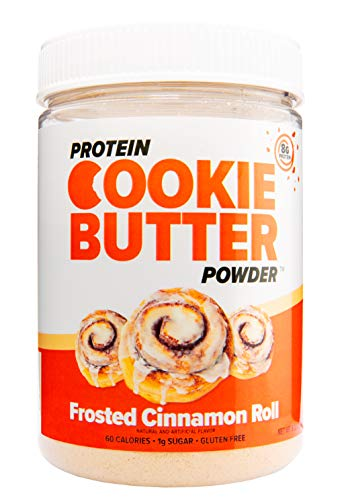FDL Protein Powder Cookie Butter for Low Carb Snacks & Desserts - Keto Friendly - 8.32oz (Frosted Cinnamon Roll) (Butter Cookie Re)