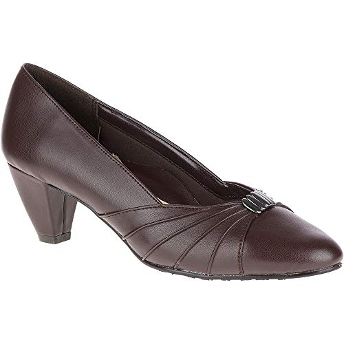 Soft Style by Hush Puppies Women's Dee Dress Pump, Dark Brown, 5.5 M US by Soft Style