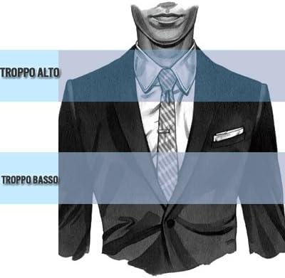 Ducomi Laplace – Corbata Hombre con Acabado Plata – Accesorio de ...