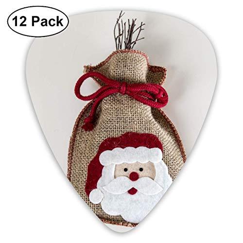 HOOAL Custom Guitar Picks, Cute Christmas Santa Claus Compiling Sacks Guitar Pick,Jewelry Gift For Guitar Lover,12 Pack