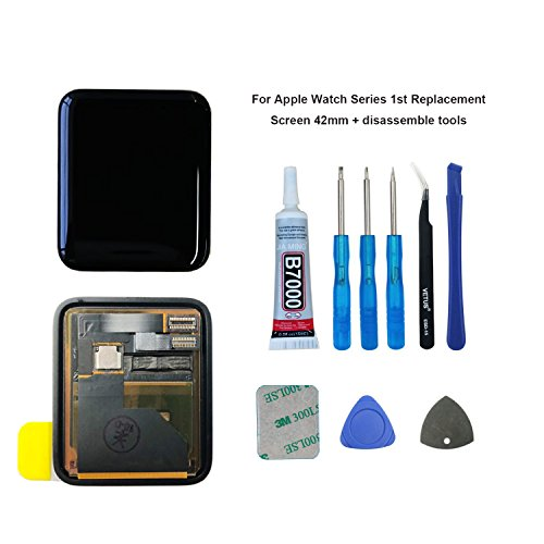 swark LCD Display Compatible Apple Watch Series 1 A1803 (1st Generation) A1554 Screen 42mm LCD Screen Digitizer Assembly Tools