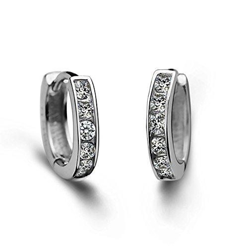 Boucle d'oreille anneau femme argent