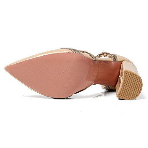 Extra Sandales Talon Tailles 7 Mode Melady Colors Nude Femmes Haut qagpXxEnIw