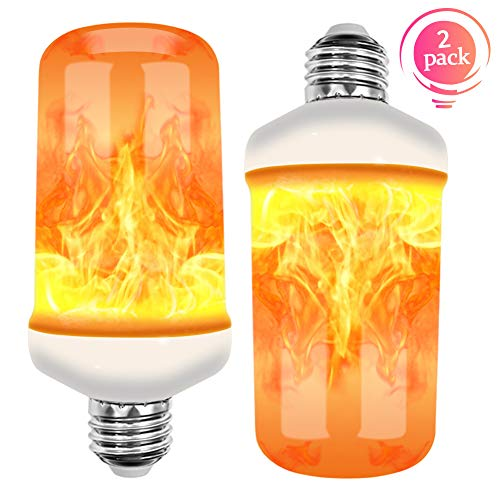 Amerzam Flame Light, LED Flickering Flame Lamp Bulb Energy Efficient Lights for Halloween Home Bars Hotel Party Christmas Decorative Light 2 Pack