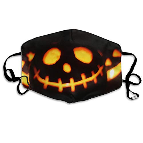 HBLSHISHUAIGE Halloween Pumpkin Light Background Unisex Fashion Mouth-Masks Washable Safety 100% Polyester Comfortable Breathable Health Anti-Dust Half Face Masks ()
