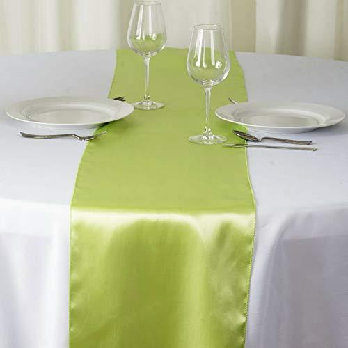 Mikash 12 x 108 Satin Table Runner Wedding Party Dinner Table Supply Decorations Sale | Model WDDNGDCRTN - 1817 | 6 pcs