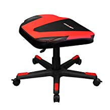 DXRACER FR/FX0/NR Newedge Edition Adjustable Storage Ottoman Footstool Chair Gaming Seat Pouf Furniture (Black/Red)