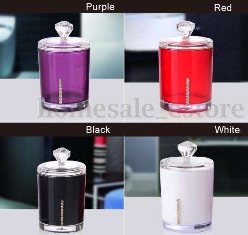 LARARHEE-Acrylic Q-Tip Cotton Swab/Bud Holder Dispenser Organizer Storage Box Container