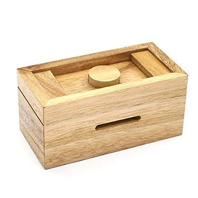 Secret Enigma Puzzle Boxes with Hidden Compartments (Ziggurat Chest)