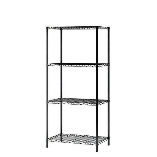 4 tier black shelving unit - 9