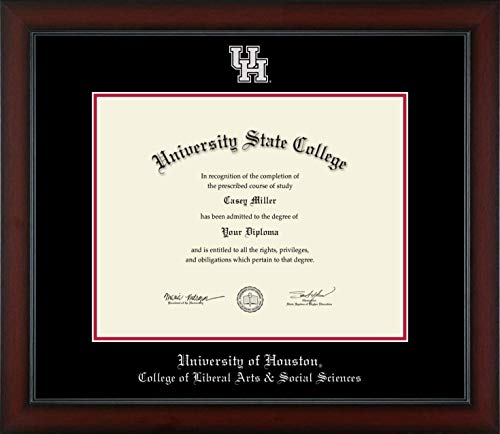 University of Houston College of Liberal Arts and Social Sciences - Officially Licensed - Silver Embossed Diploma Frame - Diploma Size 14