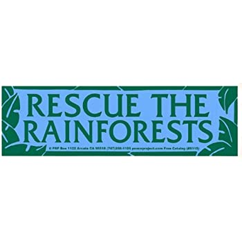 Amazon.com: Peace Resource Project Rescue The Rainforests