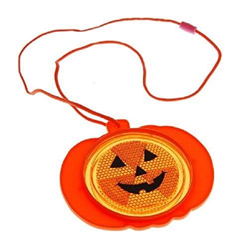 Pumpkin Reflector Necklace - Halloween Party Supplies
