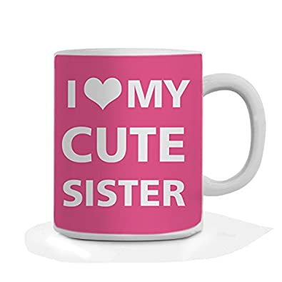 Buy Giftsbymeeta Love You Sister Pink Mug For Sister Rakhi Gift