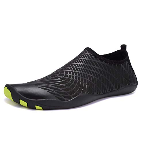Beach Water Shoes Mens Womens Quick Dry Aqua Shoes Unisex Swim Shoes with Drainage Holes for Swim,Walking,Yoga,Lake…