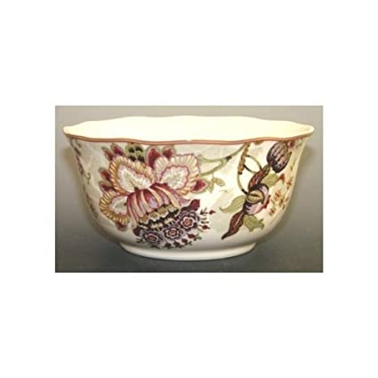 Amazon.com: 222 Fifth Gabrielle Cream Cereal Bowls, Set of 4 ...