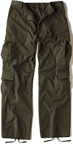 Vintage OD Green Army Paratrooper Pants Tactical Military BDU Fatigue