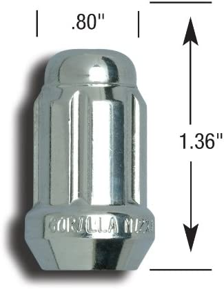 Gorilla Automotive 21623SD Small Diameter Systems 12mm x 1.25 Thread Size