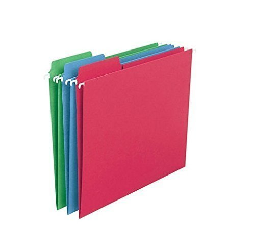 Smead FasTab Colored Hanging Folders, Letter