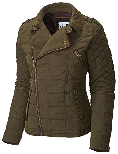 (Columbia Women's Conquest Carly Moto Jacket, Olive Green, S)