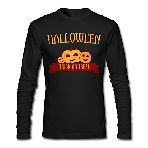 LDMH Men's Happy Halloween Long Sleeve Tee - Toffee Marta