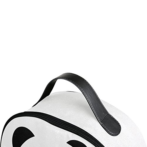 Use4 Hello Panda Love Heart Polyester Backpack School Travel Bag by ALAZA (Image #3)