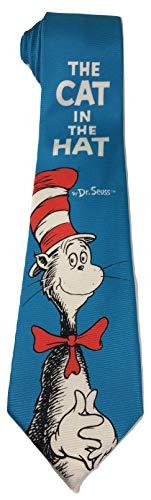 Dr Seuss Cat In The Hat Blue New Novelty Necktie Tie