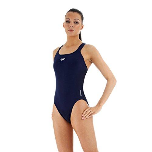 SPEEDO Ladies Endurance+ Medalist Swimsuit, Navy, 28in