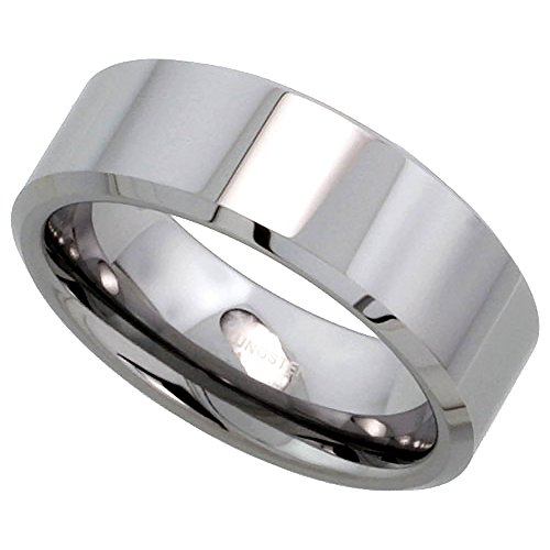 Tungsten Wedding Polish Beveled Comfort