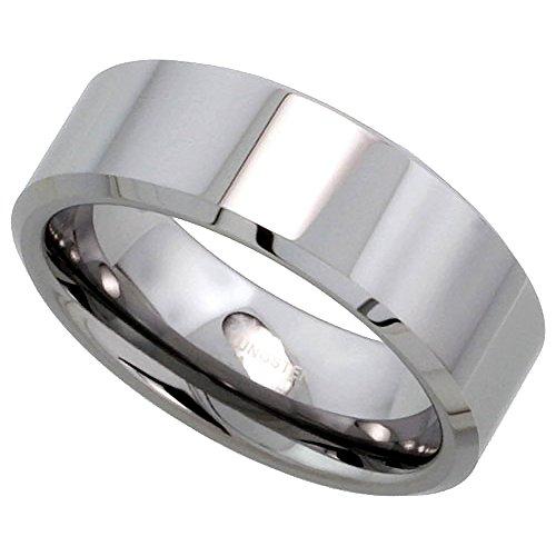 Tungsten Wedding Polish Beveled Comfort