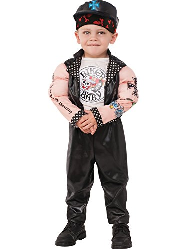 Rubies Costume Child's Muscle Man Biker Costume, Small, Multicolor