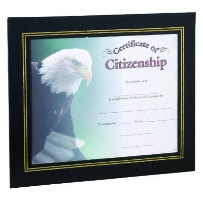 Black Leatherette Certificate Holder Frame - Package of 5 by Awards and Gifts R Us (Image #2)