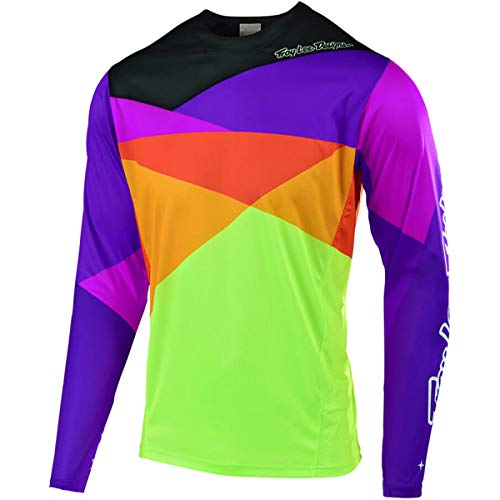 Troy Lee Designs Sprint Jet Youth Off-Road BMX Cycling Jersey - Orange/Purple/Large