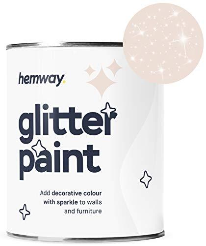 (Hemway Silver Glitter Paint 1L Matte Walls Wallpaper Bathroom Furniture Acrylic Latex (Peaches and)