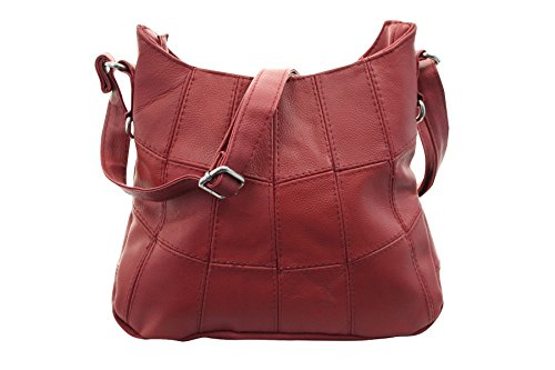 or Ladies Red Tan On Red Style Bag Leather Latest Handbag Black Trend Brown UxPnF
