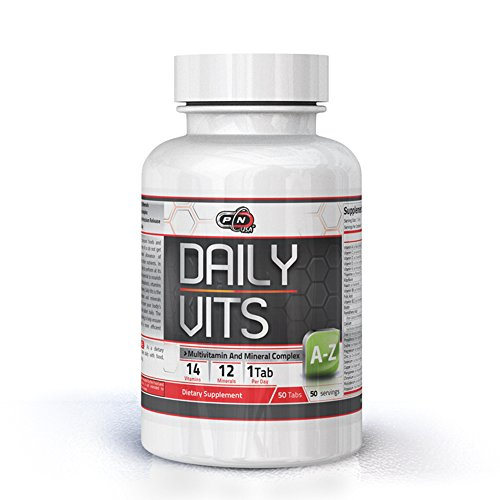 Pure Nutrition Daily Vits|Everyday A-Z Multivitamin Mineral Complex Men Women|14 Vitamins 12 Minerals Sport Supplement|Digestive Enzyme Blend|1 Tab Daily|50 Days Supply