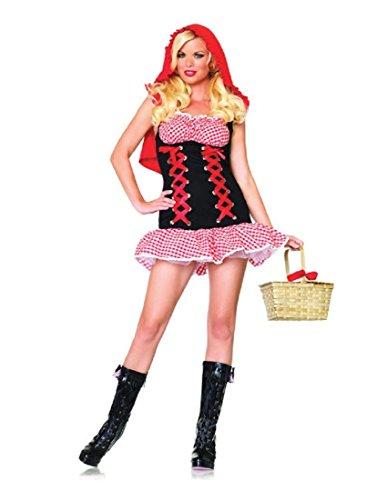 Leg Avenue Women's Red Hot Riding Hood Costume, Red/Black, Medium/Large