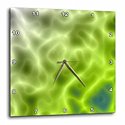 3dRose dpp_21822_1 Mystical Green Abstract Wall Clock, 10 by 10-Inch
