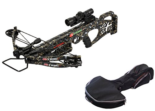 PSE Archery, Fang LT Crossbow Package, Skullsworks 2 Camo with PSE TAC Elite Crossbow Case