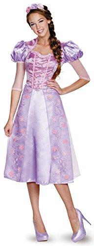 Disguise Women's Rapunzel Deluxe Adult Costume, Purple, Large ()