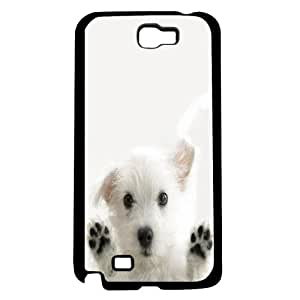 White Puppy on White Background Hard Snap on Phone Case (Note 2 II)