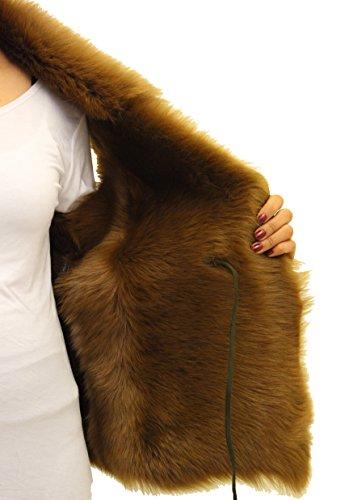 Lumire Mouton Manches taille Femmes Sans Daim corps La Courte Avec Vert Peau Gilet De chauffe Vertfourrure En Olive Taille Longueur SnwUqYwxgf